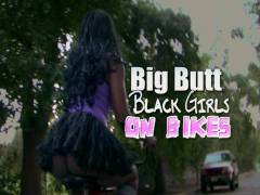 Big Back yard Black Girls On Bikes