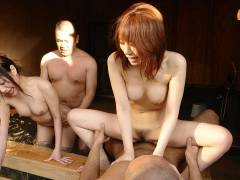 Babes and lads enjoy in hot spring sex orgy