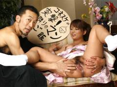 Kaede Moritaka cheats her man at home for cam