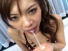 Sexy Japanese slut gets ramed by 2 horny men